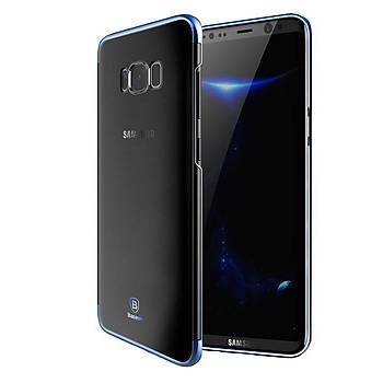 Baseus Samsung Galaxy S8 Glitter Ultra Ýnce TPU Kýlýf Mavi