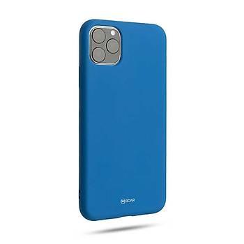 Roar All-Day Jelly Serisi Full Koruma iPhone 11 Pro Max Kýlýf Mavi