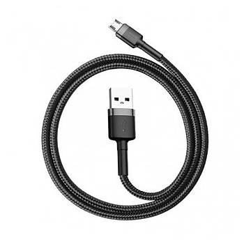 Baseus Cafule Serisi USB Kablo Micro USB 2.4A, 1M Siyah-Gri