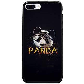 AntDesign iPhone 7 Plus / 8 Plus Cam Baský Desenli Kýlýf Panda