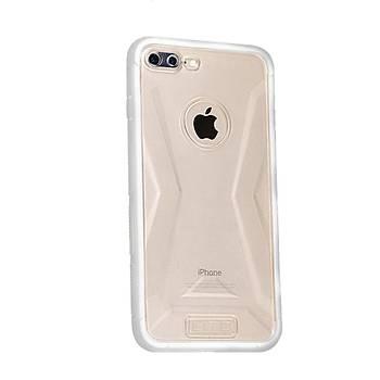Lito Shockproof TPU Darbeye Dayanýklý iPhone 7 Plus Kýlýf Beyaz