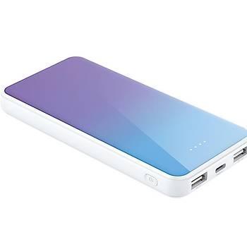 Xipin M8 10000 Mah Çift USB Çýkýþlý Mini Powerbank Blue