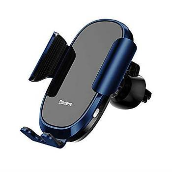 Baseus Smart Car Mount Havalandýrma Tipi Araç Telefon Tutucu Mavi