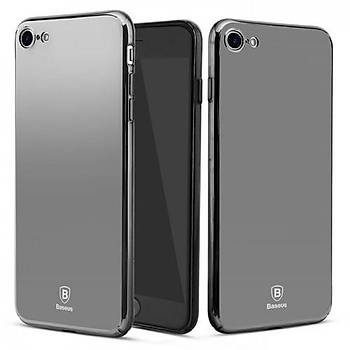 Baseus Glass Mirror Serisi iPhone 6 / 6S Aynalý Kýlýf Siyah