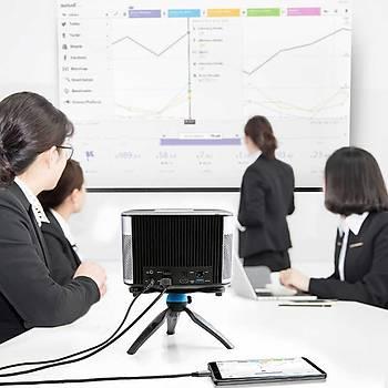 Wiwu X9 Type-C to HDMI Çevirici Kablo 1 Metre Siyah