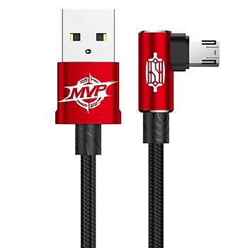 Baseus MVP Elbow Type Kablo USB  Micro 2A 1M Kýrmýzý
