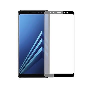 Piili 5D Tüm Yüzey Galaxy A8 2018 Cam Ekran Koruyucu Siyah