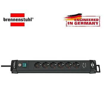 Brennenstuhl Premium-Line 2X Usb 2100m Ah 6'lý Akým Korumalý Priz