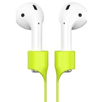 Baseus Strap Serisi Apple AirPods Kulaklýk Askýsý Yeþil
