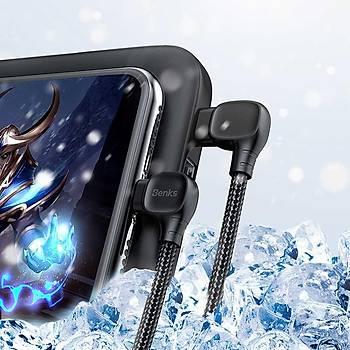 Benks M15 MFI Lisanslý Type-C - Ýphone Þarj ve PDA Kablosu