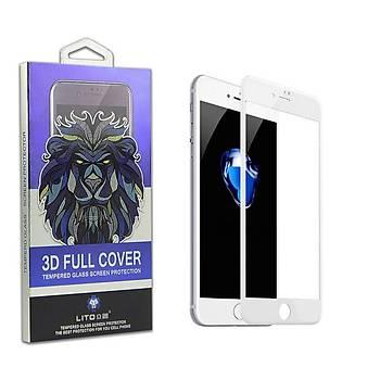 Lito 3D Full Cover iPhone 6/6S Plus Cam Ekran Koruyucu Ön / Siyah