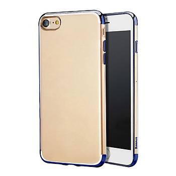 Baseus Shining iPhone 7/8 Kenar Korumalý Tpu Kýlýf Koyu Mavi