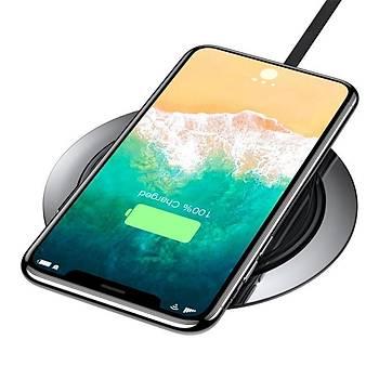 Baseus Metal Wireless 7.5W Hýzlý Þarj Cihazý Siyah