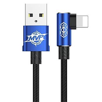 Baseus MVP Elbow Type Kablo USB  Micro 2A 1M Mavi