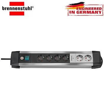 Brennenstuhl Premium-Alu-Line 13.500 A 6'lý Akým Korumalý Priz