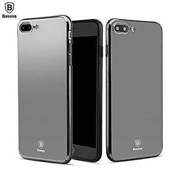 Baseus Glass Mirror Serisi iPhone 7 / iPhone 8 Aynalý Kýlýf Siyah