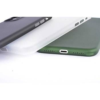 Zore Apple iPhone 11 PP Yumuþak Silikon Kýlýf Yeþil