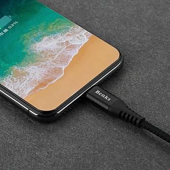 Benks D26 Apple Ýphone Þarj ve Data Kablosu 1.8M 3 A. Kýrmýzý