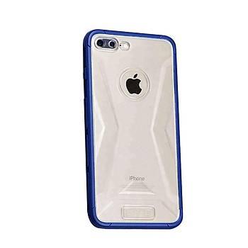 Lito Shockproof TPU Darbeye Dayanýklý iPhone 8 Kýlýf Koyu Mavi