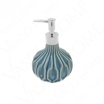 Porselen Stoneware Banyo Turkuaz Sıvı Sabunluk