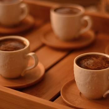 Bambu Thore 6 Kişilik Kahve Fincan Takımı 12 Parça