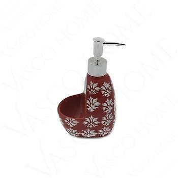 Porselen Stoneware Mutfak Kırmızı Sıvı Sabunluk