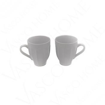 Oymalý Renkli Kupa Beyaz 2'Li