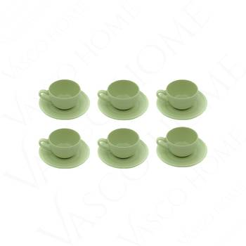 Nil Yeşili Çay Fincan Takımı