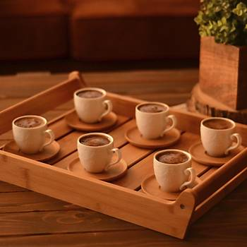 Bambu Thore 6 Kiþilik Kahve Fincan Takýmý 12 Parça