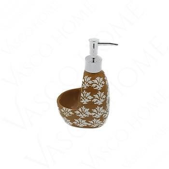 Porselen Stoneware Mutfak Kahverengi Sıvı Sabunluk