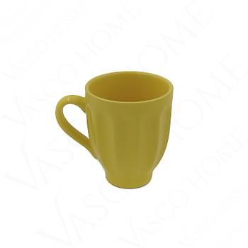 Oymalı Renkli Kupa Sarı