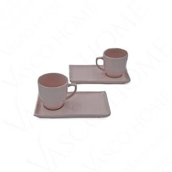 Doğal Taş İki Kişilik Kahve Fincan Takımı