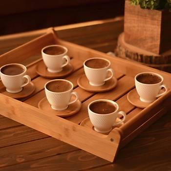 Bambu Yola 6 Kiþilik Kahve Fincan Takýmý 12 Parça