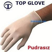 Top Glove 10 Kutu Latex Pudrasýz Muayene Eldiven Antialerjik / Boy seçiniz / Nakliye Dahil