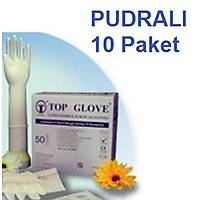 Cerrahi Steril Pudralý Lateks Eldiven - 10 Çift  Boy Seçebilirsiniz