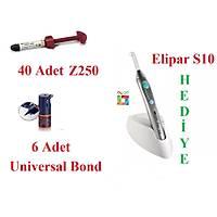 3M Elipar S10 Iþýnlý Dolgu Led Cihazý HEDÝYE ( 40 Adet Z250 Tek Tüp + 6 Universal Bond )