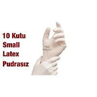 PERFECT TOUCH Latex Pudrasýz Eldiven Small - Antialetjik 10 Paket (100 lük ) / Nakliye Dahil