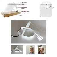 ABS Beyaz Siperli Lüx Yüz Koruyucu Maske Diþ Hekimi Siperi Kalkan Siperlik  ( 1 Siperlik + 5 Bariyer )