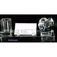 Kristal Kartvizitlik ve Kalemlik Dekorasyon Ürünü