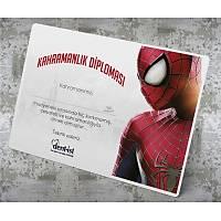 Cesaret Belgesi - Spiderman CES_0009 (Çocuk Hastalar için) 100 Adet