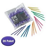 EURONDA Sakþýn / Tükürük Emici 20 Paket - Renk Seçebilirsiniz
