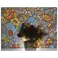 D-c-fix 200-3006 Çiçek Desen Kendinden Yapýþkanlý Cam Vitray Folyo