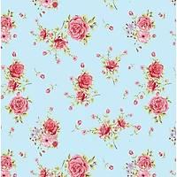 Floral Collection 5032 Kýrmýzý Gül Desenli Duvar Kaðýdý