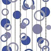 Vision 283-B Mavi Halka Desenli Duvar Kağıdı