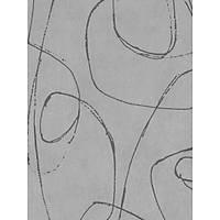 Lines & Curves 52429 Gri Modern Görünümlü Duvar Kaðýdý