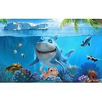 DL 7083 Sevimli Balýklar Çocuk Odasý Duvar Posteri