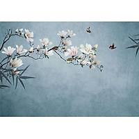 DL 7004 Floral Duvar Posteri Non Woven