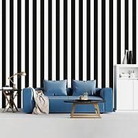Trend Collection 18185-6 Siyah Beyaz Çizgili Duvar Kaðýdý