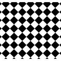 New Selection 331-5 Siyah Beyaz Baklava Desen Duvar Kaðýdý