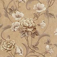 Dekor İmage 1247-D Çiçek Desenli Vinil Duvar Kağıdı
